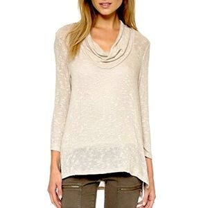 • soft joie estee cowl neck oatmeal knit sweater •